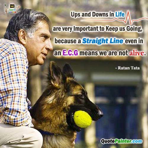 QuotePainter - Ups and Downs - Ratan Tata