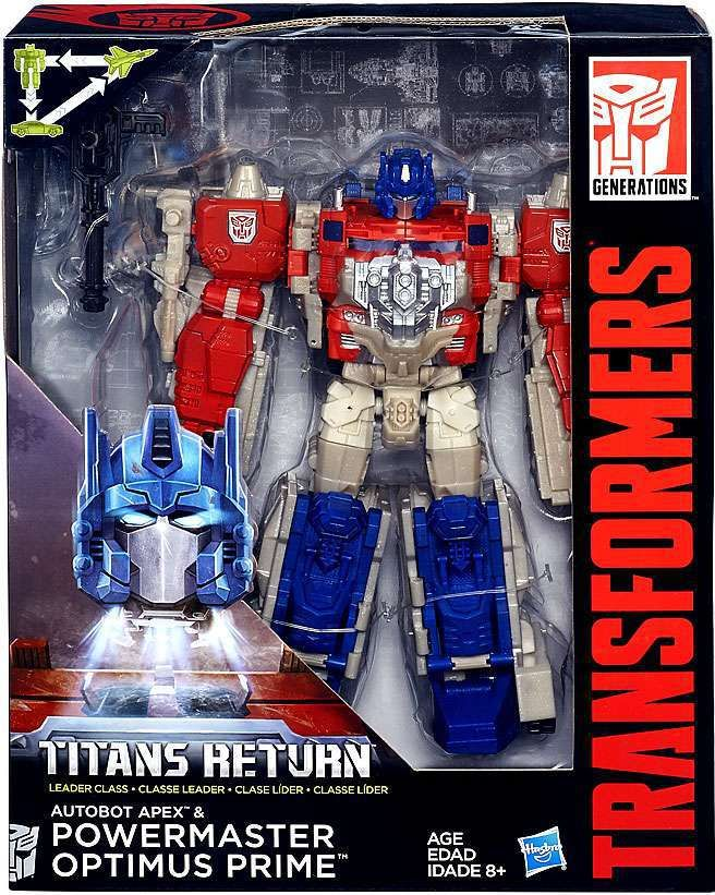 Transformers Generations Titans Return Autobot Apex & Powermaster Optimus Prime Leader Action Figure