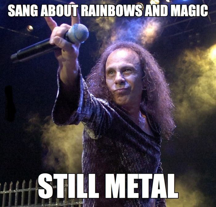 The legendary Ronnie James Dio. METAL to the very end of his rockin' life  RIP DIO