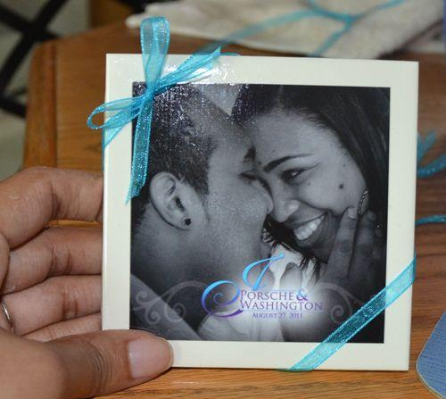 Favors Coaster Souvenirs Wedding Purple Teal Coasters