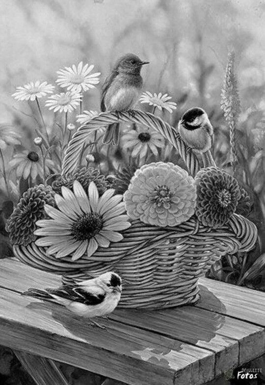 a summer bouquet songbirds original painting by rosemary millett