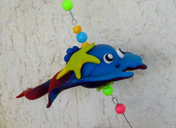 https://flic.kr/p/HgoemR | Living in the sea - Mobile, handmade, polymer clay
