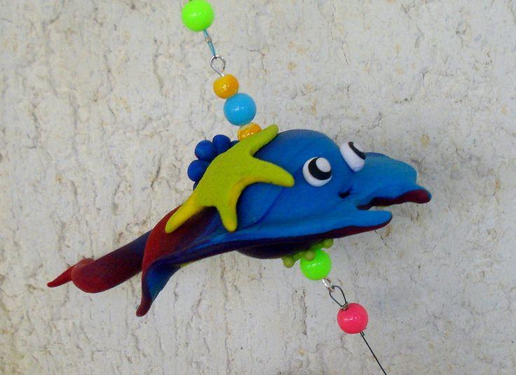 https://flic.kr/p/HgoemR | Living in the sea - Mobile, handmade, polymer clay