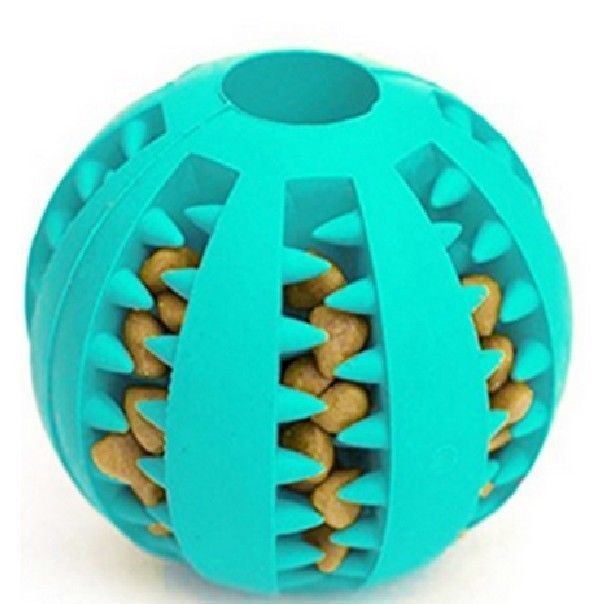 New Idepet 5cm Rubber Dog Treat Dispensing Ball Chew Toy For Dogs