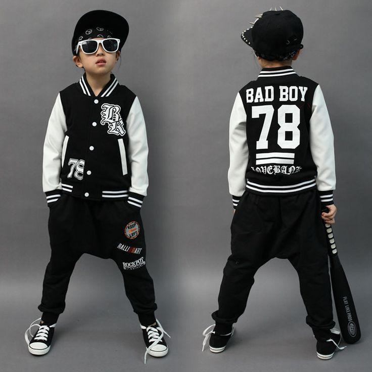$27.58 (Buy here: https://alitems.com/g/1e8d114494ebda23ff8b16525dc3e8/?i=5&ulp=https%3A%2F%2Fwww.aliexpress.com%2Fitem%2FSpring-Autumn-children-s-clothing-set-bad-boy-Print-Costume-kids-sport-suits-Hip-Hop-harem%2F32723482111.html ) Spring Autumn childre