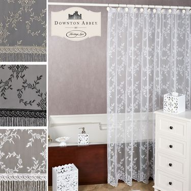 Downton Abbey Yorkshire Lace Shower Curtain Touch of Class catalog $49