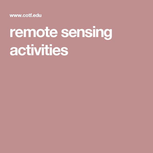 remote sensing activities