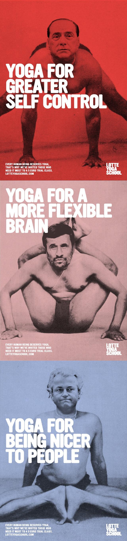 Lotte Yoga School / via Lurzer's Archive. #yoga #print #advertisement