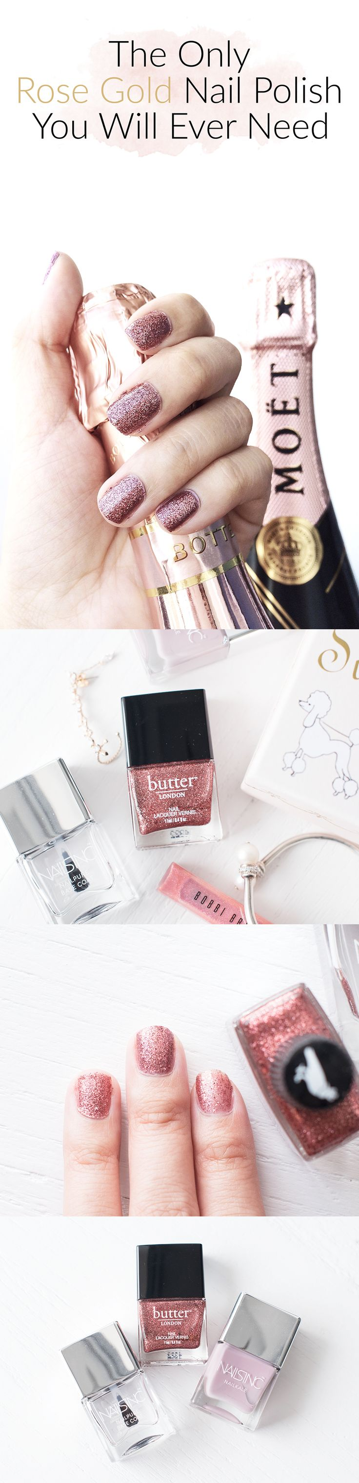 the Only Rose Gold Nail Polish You Will Ever Need: Rosie Lee by Butter London.Check out the blog post here: http://www.theskinnyscout.com/2016/09/02/rose-gold-nail-polish-butter-london-rosie-lee/