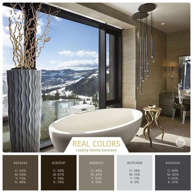 Bathroom with a view.   #findinspiration #colorpalettes #realcolors  #realcolorpalette #becreative #design #home #interiordesign #interior #lovecolors #lovedesigning  #homedecor #house #spaceart #instadecor #view #bathroomdecor #bathroomdesign   Real colors for iPhone: http://www.itunes.com/apps/realcolors Or for Android: http://goo.gl/NtPx8
