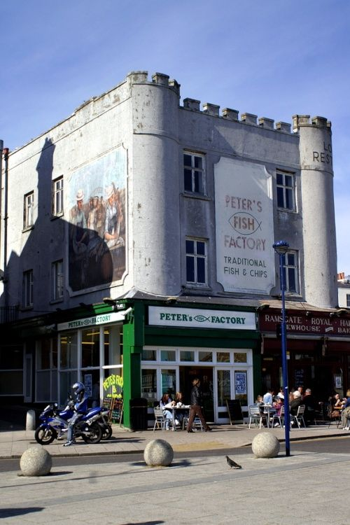 Peters fish factory. for fish and chips, Ramsgate, Kent, England
