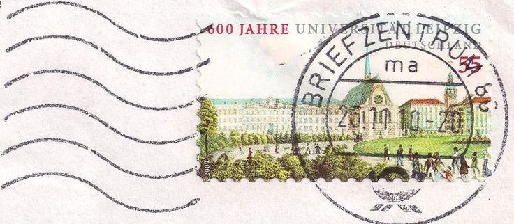 Briefmarke-Europa-Mitteleuropa-Deutschland-55-2009-Universität Leipzig