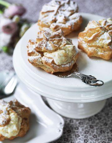 Fastelavnsboller: Denmark cream filled buns eaten in Shrovetide.