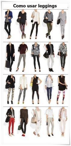 Como usar leggings