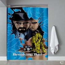 Breaking bad tv series crack Shower Curtain