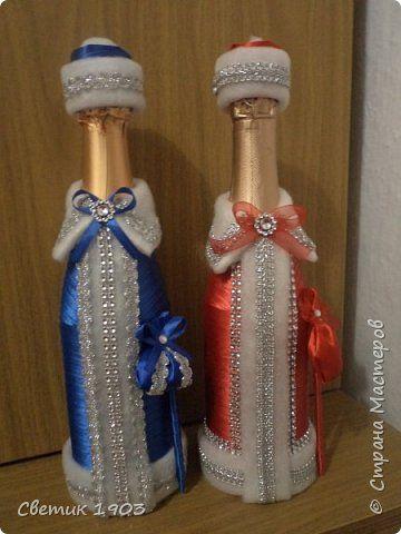 Декор предметов Новый год Моделирование конструирование Мои бутылочки Мои подарочки  фото 1