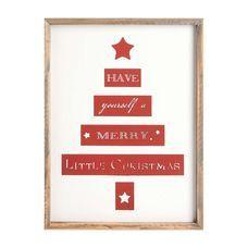 Bild Christmas Holz rot ca B:30 x L:40 cm