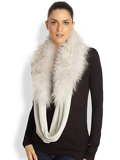 beautiful fur infinity scarf can be worn a variety of ways.... {saks fifth avenue #currentlyobsessed}
