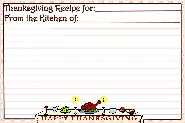 Printable Thanksgiving Wishes Recipe Card | Belly Bytes