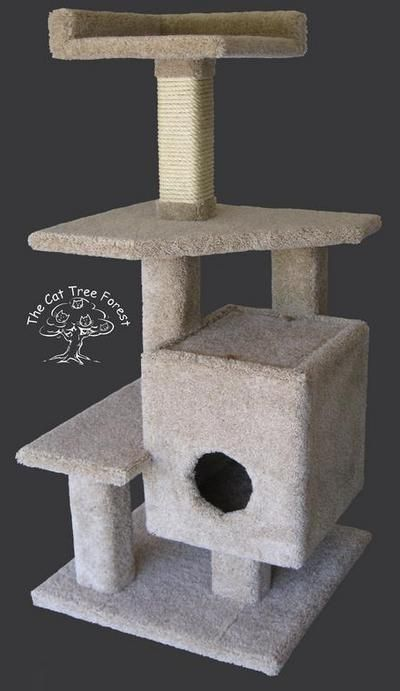 Build Cat Tree House | PLAN #04 - HOUSE OF MANY ROOFS