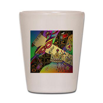 Judaica #Purim #Esther #Jewish Celebration #Art Print  Shot Glass #ShotGlass #Party
