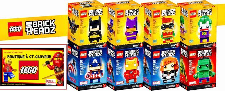 LEGO BRICK HEADZ à St-Sauveur à La Boîte à Surprises de Nicolas Département en boutique Lego Laurentides, Vaste choix + Prix compétitifs! #lego #Saintsauveur