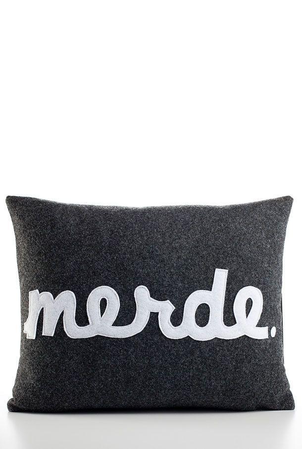 Merde pillow