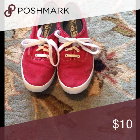 Red Keds women size 6 Cute, barely worn Red Keds! Keds Shoes