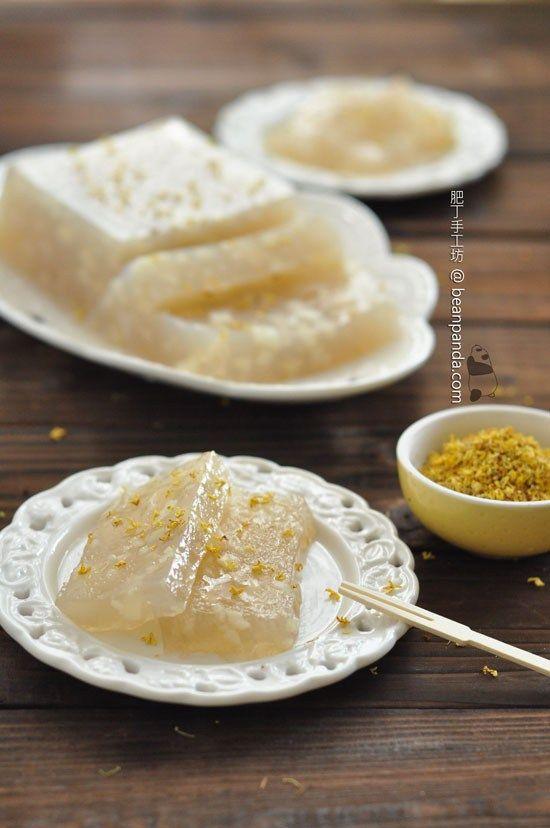 桂花馬蹄糕【晶瑩剔透】Water Chestnut Cake   Dessert recipes, Asian desserts, Food