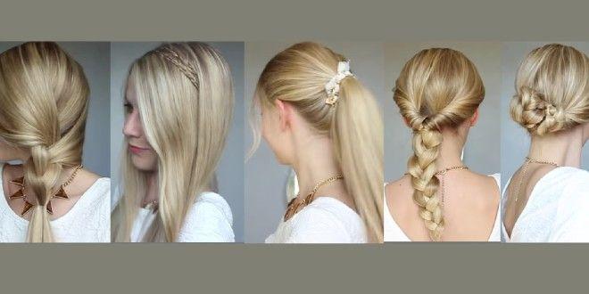 5 coiffures ultra faciles à réaliser | tuto coiffure | tutoriel beauté | diy