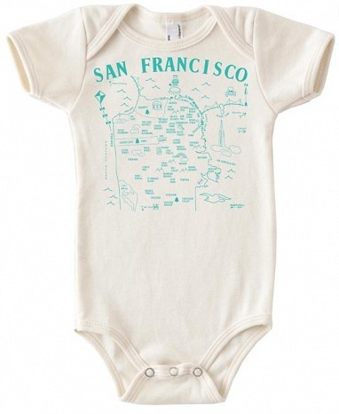 Maptote - San Francisco baby one piece