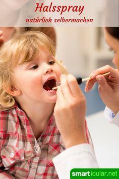 Mit diesen selbstgemachten Sprays für Kinder und Erwachsene haben Halsschmerzen keine Chance.