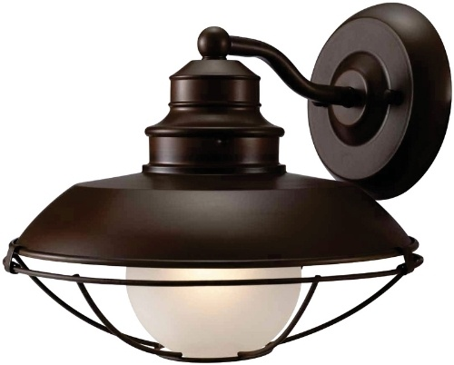 1 Light Barnyard Wall Outdoor Fixture - Classic Brown | Exterior Wall Light Fixtures
