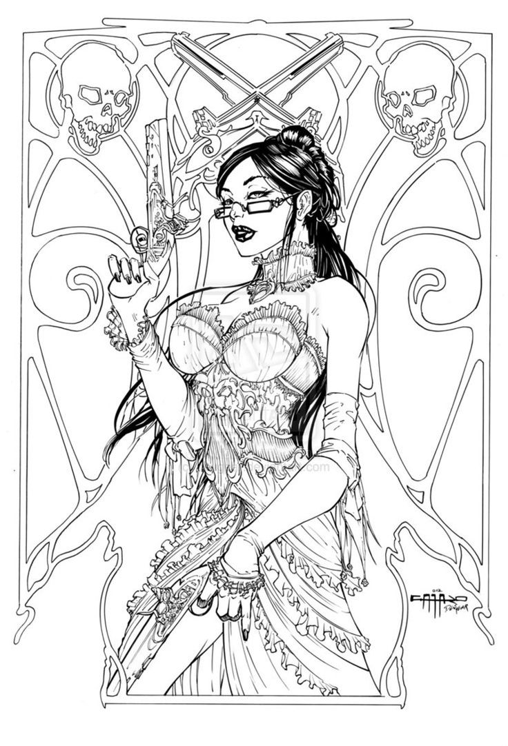 Swear word coloring book sarah bigwood - Unleashed 0 Inks By Devgear Deviantart Adult Coloring Pagescoloring Bookfantasy