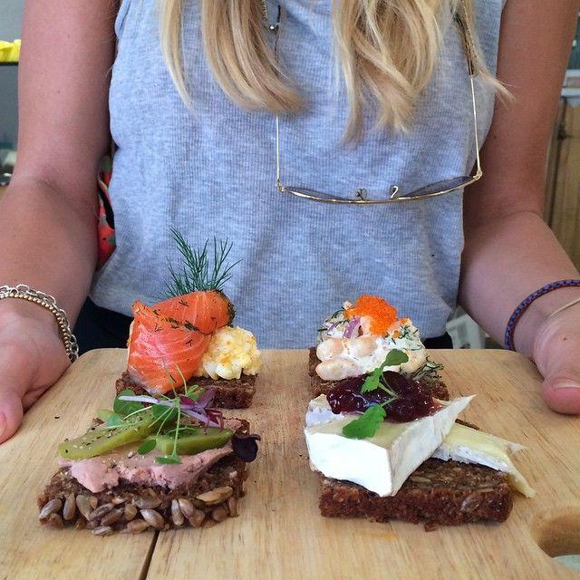 """S M Ø R R E B R Ø D now on the Lunch menu! #danishtapas #smørrebrød #scandinavian #food #fikaswedishkitchen #sydney"""