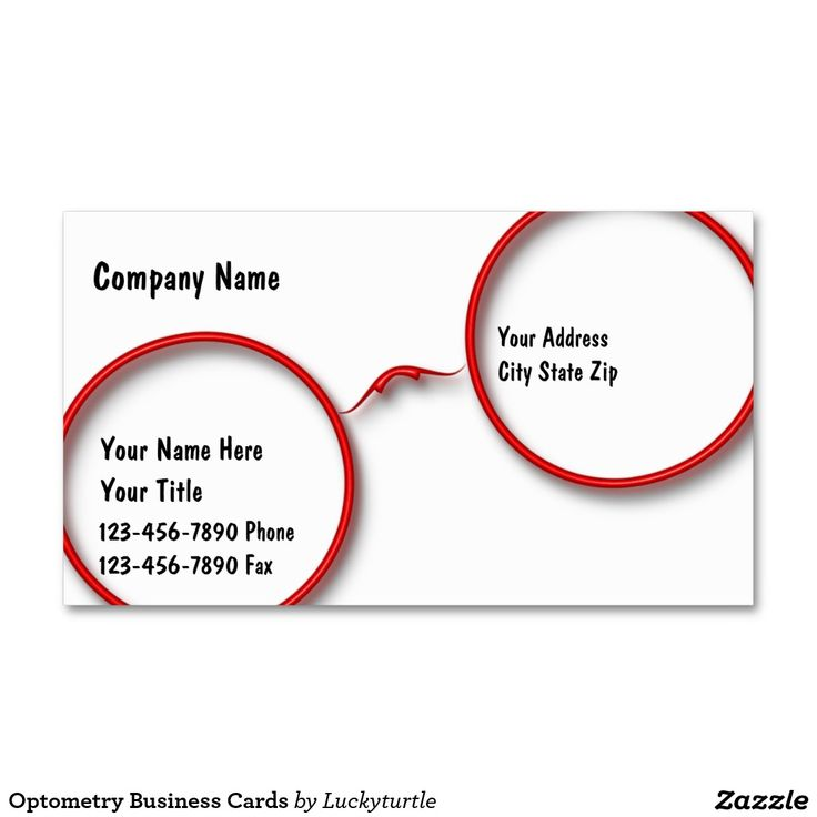 Great Optometry Business Cards Pictures Inspiration - Business ...