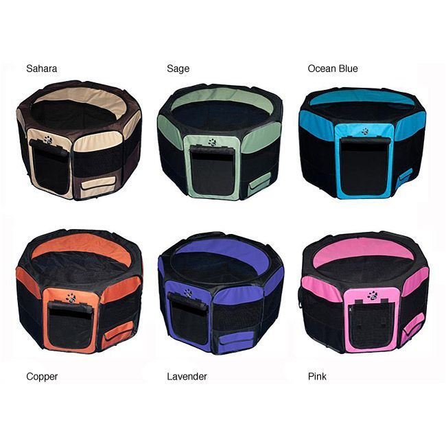 For when we go camping with the dogs: Pet Gear Large Octagon Pet Pen | Overstock.com Shopping - The Best Prices on Pet Gear Kennels & Pens