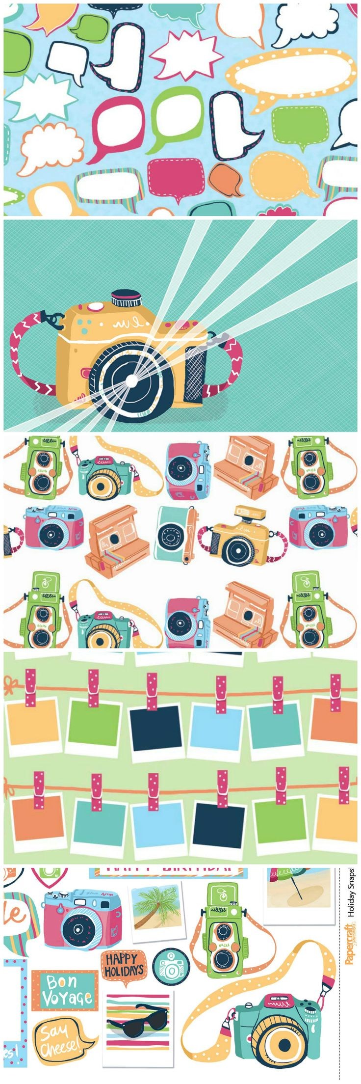 Free Printable Camera From Themed Digital Kit from Papercraft Inspirations Magazine