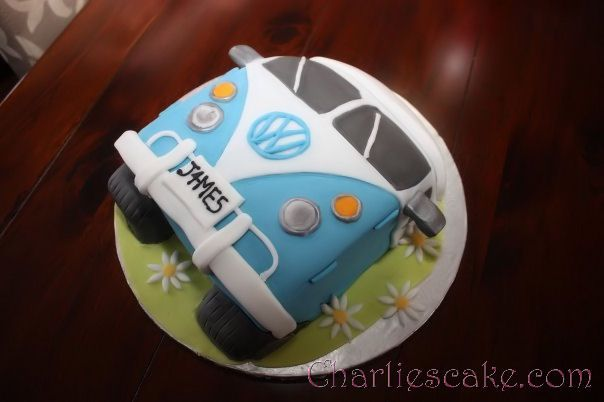 Totally doing a VW Groomsmen's Cake for the Rehearsal!! Shhh its a Surprise! Funny that this cake even says James!