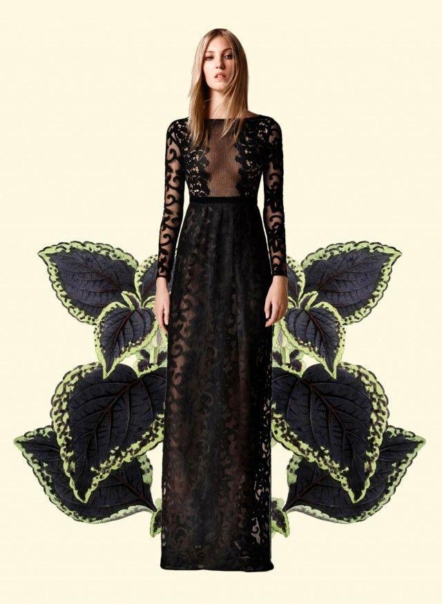 Botanical Fashion Collages : Botanical Fashion Collage