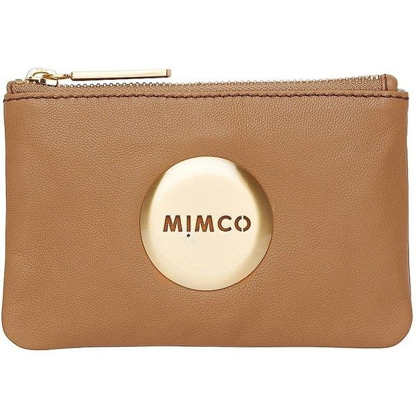 Mimco Pouch ($50) ❤ liked on Polyvore featuring bags, handbags, clutches, accessories, honey, mimco, leather clutches, pouch purse, genuine leather handbags and real leather purses