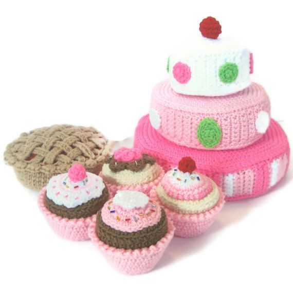 Play Food Crochet Pattern for sale - Just Desserts