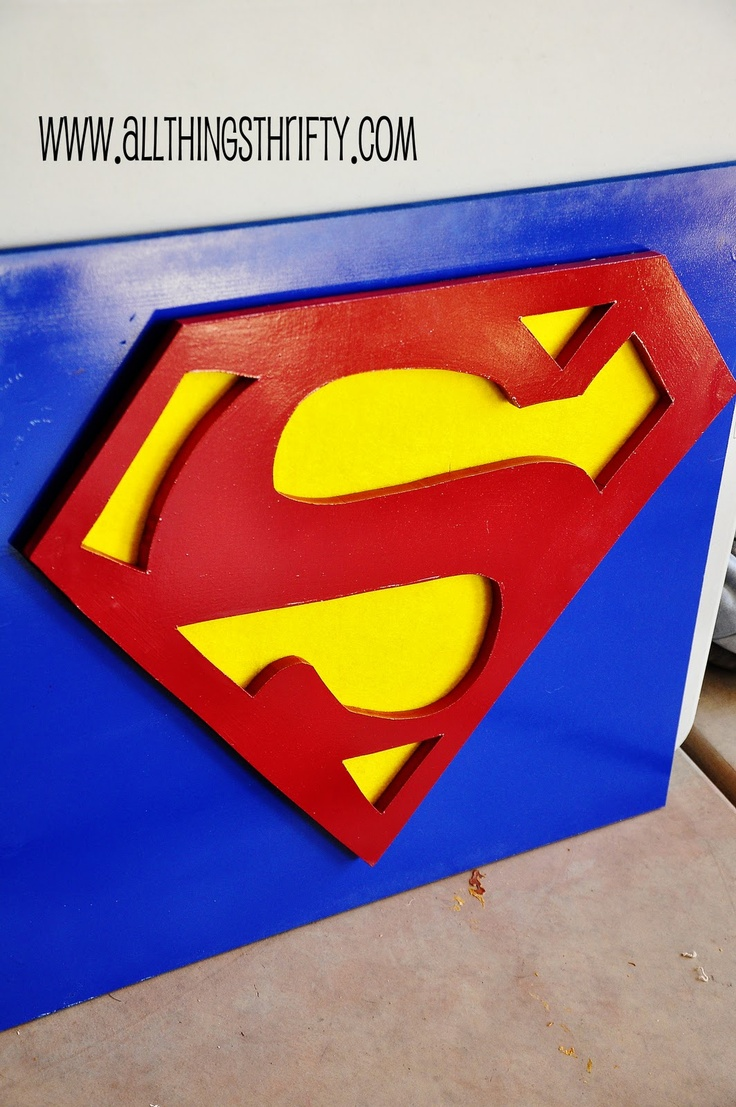 All Things Thrifty Home Accessories and Decor: Superman wall decor