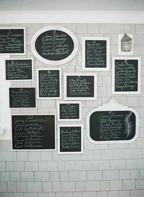 Chalkboard Seating Chart