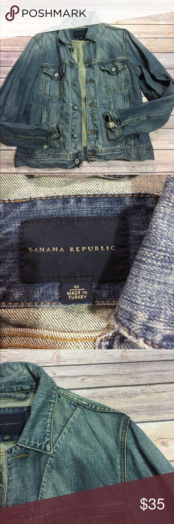 Banana Republic Jean Jacket Great condition ! Banana Republic Jackets & Coats Jean Jackets