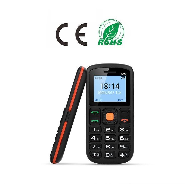 UNIWA V708 1.77 Inch 800mAh Charging Stand Dual SIM Dual Standby Torch One Key SOS Mobile Phone