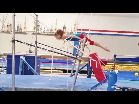 How To Do A Front Hip Circle On The Bars With Coach Meggin (Professional Gymnastics Coach)