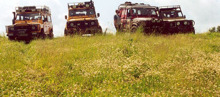 Off Road Tours in Land Rover Defenders - get off road with 100's of kms of amazing tours starting at the hotel.