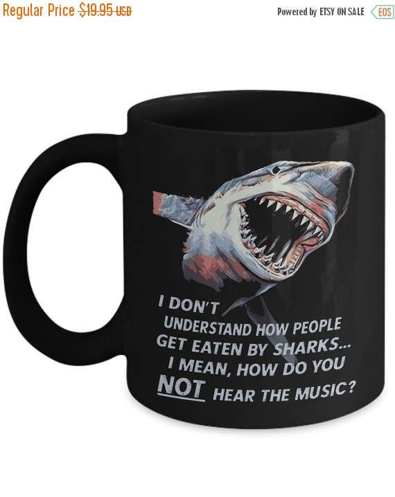 ON SALE Great White Shark Showing Its Sharks Teeth 15 oz.