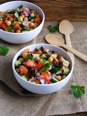 Makacska konyhája: Mediterán csicseriborsó saláta